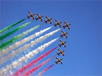 Le Frecce Tricolori in Romagna
