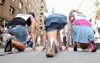Milano Marittima: corsa sui tacchi a spillo