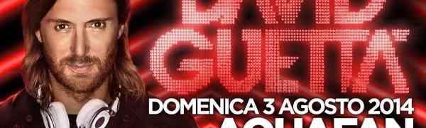 David Guetta all'Aquafan di Riccione
