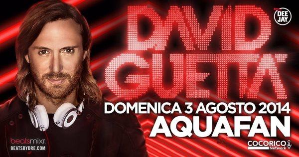 David Guetta Aquafan di Riccione
