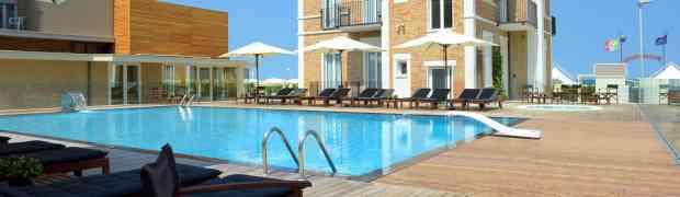 In totale relax direttamente sulla spiaggia di Bellaria all'Hotel Capanni